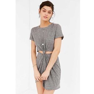 UO Jersey Knot Tie Front Cutout Dress